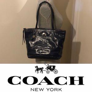 Coach leather Signature C Embossed shoulder bag